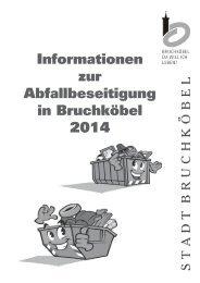 Abfallinformationen 2014 - Stadt Bruchköbel