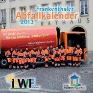 Abfallkalender 2013 - Stadt Frankenthal