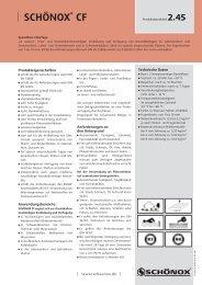 SCHÖNOX CF - Schonox