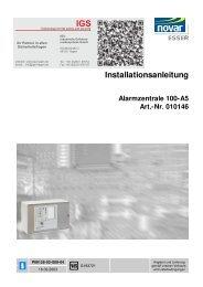 Alarmzentrale 100-A5 - IGS-Industrielle Gefahrenmeldesysteme ...