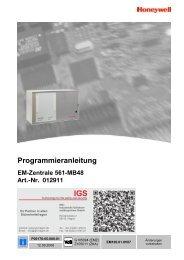 Honeywell - Einbruchmelderzentrale 561-MB48 - IGS-Industrielle ...