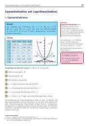 Exponentialfunktion und Logarithmus(funktion) - arthur