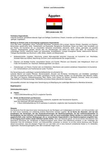 Einfuhr- und Zollvorschriften - Deutsche Post