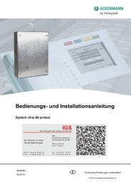 System clino 99 protect - IGS-Industrielle Gefahrenmeldesysteme ...