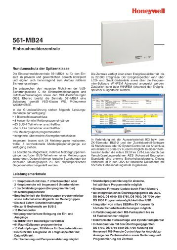 Einbruchmelderzentrale 561-MB24