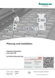 Patientenrufsystem clino phon 99 - IGS-Industrielle ...
