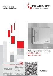 Telenot - Übertragungsgeräte comXline 1516 und 2516