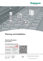 Ackermann - Patienten-Rufsystem clino opt 99 - IGS-Industrielle ...