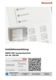 Honeywell - Ident-Key-Auswerteeinheit IK2 (022164) (PDF)