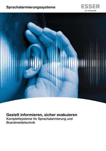 Sprachalarmierungssysteme Esser (PDF) - Effexx
