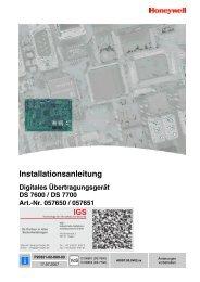 Digitales Übertragungsgerät DS 7600/DS 7700 - IGS-Industrielle ...