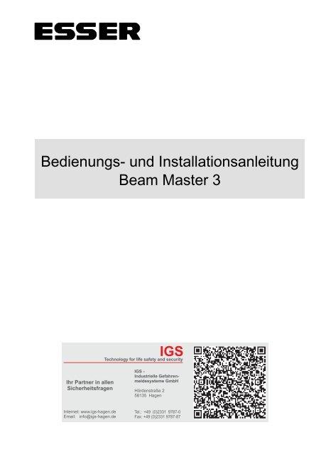 Novar - Linearer Rauchmelder Beam Master 3 - IGS-Industrielle ...