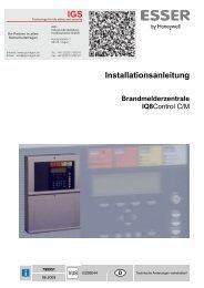 Novar - Brandmeldecomputer IQ8-Control C und M - IGS-Industrielle ...