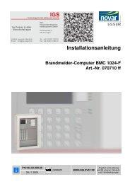 Brandmelder-Compoter BMC 1024-F - IGS-Industrielle ...