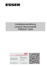 Linearer Rauchmelder FIRERAY 2000 - IGS-Industrielle ...
