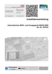 und Ansagegerät AWAG 6200 - IGS-Industrielle ...