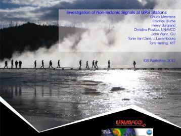 Investigation of Non-tectonic Signals at GPS Stations - IGS