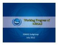 zaho - Working Progress of iGMAS - IGS