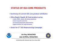 STATUS OF IGS CORE PRODUCTS - NOAA