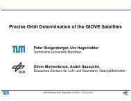 Precise Orbit Determination of the GIOVE Satellites - IGS