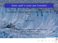 Elastic uplift in south west Greenland - IGS
