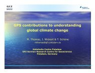 GPS contributions to understanding global climate change g g - IGS
