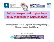 Future prospects of troposphere delay modelling in GNSS ... - IGS
