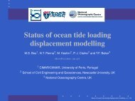 Status of ocean tide loading displacement modelling - IGS