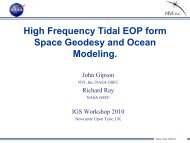 High frequency tidal EOP from space geodesy and ocean ... - IGS