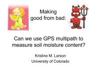 Can we use GPS multipath to measure soil moisture content ... - IGS