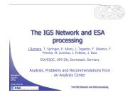 IGS Network and ESA processing
