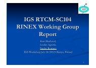 Timeline, procedure and Tools - IGS