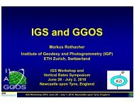 IGS and GGOS