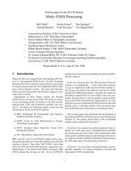 Multi–GNSS Processing - IGS