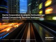 Harris Corporation to acquire Schlumberger Global Connectivity ...