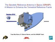 The Geodetic Reference Antenna in Space (GRASP): A ... - IGS