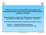 Real-time and near real-time GPS-components for the ... - IGS