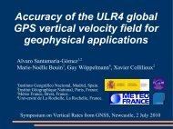 Accuracy of the ULR4 global GPS vertical velocity field for ... - IGS