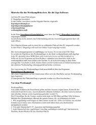 Hinweise für das Wettkampfbüro bzw - Deutscher Schützenbund eV