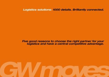 Five good reasons to choose the right partner for your logistics and ...