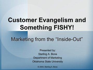 Customer Evangelism and Something FISHY! - IGSHPA - Oklahoma ...
