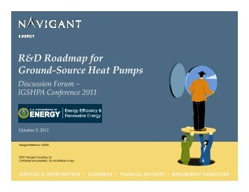 R&D Roadmap for Ground-Source Heat Pumps Discussion Forum - IGSHPA
