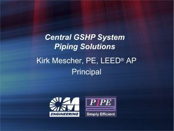 Pipe Length/ pressure loss - IGSHPA