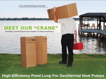 High-Efficiency Pond Loop For Geothermal Heat Pumps - IGSHPA