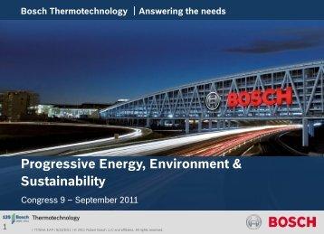 Bosch Thermotechnology - IGSHPA