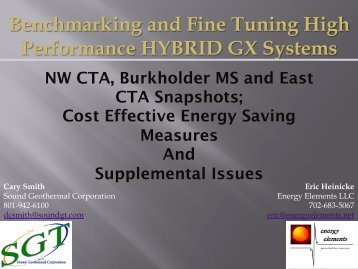 Benchmarking and Fine Tuning High Performance ... - IGSHPA