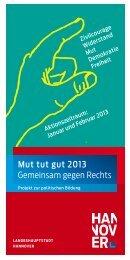 Mut tut gut 2013 Gemeinsam gegen Rechts - IGS List Hannover
