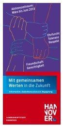 Mit gemeinsamen Werten in die Zukunft - IGS List Hannover
