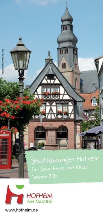 Stadtführungen Hofheim - Stadt Hofheim am Taunus