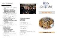 BläserKlasse - IGS List Hannover
